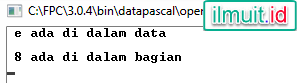 Contoh Program Tipe Data  Set