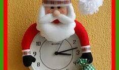 Relógio  Natal Papai Noel