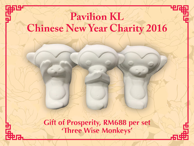 Gift of Prosperity three wise monkeys @ RM688, Pavilion KL Charity Drive