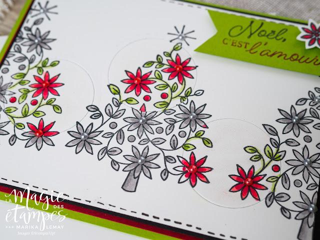 Carte de Noël Stampin' Up! avec le jeu d'étampe Étoiles brillantes