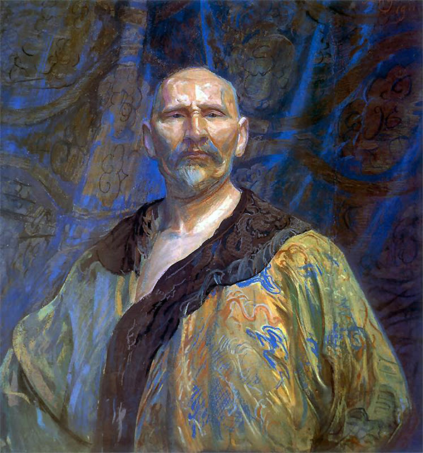 Leon Wyczółkowski, Self Portrait, Portraits of Painters, Fine arts, Portraits of painters blog, Paintings of Leon Wyczółkowski, Painter Leon Wyczółkowski