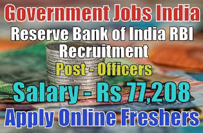 Reserve Bank RBI Recruitment 2019