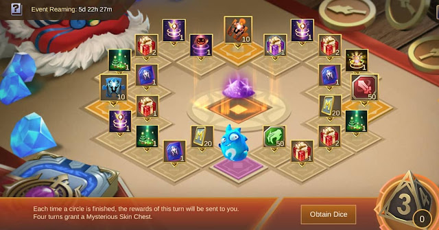 Dapatkan Skin Gratis di Event Dadu Khusus Advanced Server Mobile Legends 1