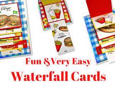 Waterfall Card Template