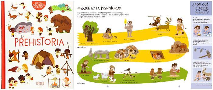 Libro informativo La prehistoria ideaka edelvives