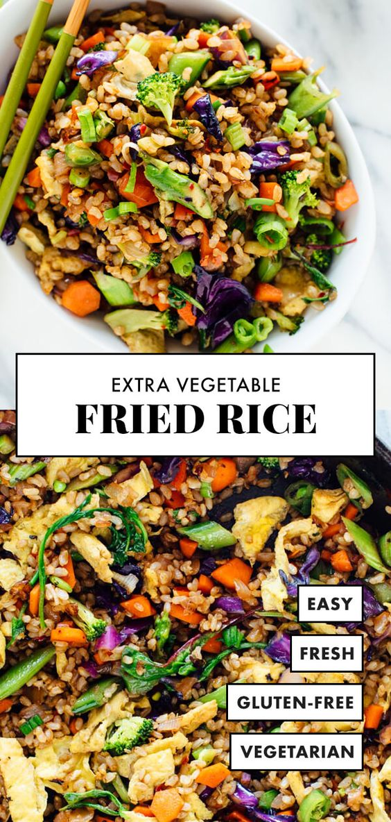 Extra Vegetable Fried Rice #healthyrecipeseasy #healthyrecipesdinnercleaneating #healthyrecipesdinner #healthyrecipesforpickyeaters #healthyrecipesvegetarian #HealthyRecipes #HealthyRecipes #recipehealthy #HealthyRecipes #HealthyRecipes&Tips #HealthyRecipesGroup  #food #foodphotography #foodrecipes #foodpackaging #foodtumblr #FoodLovinFamily #TheFoodTasters #FoodStorageOrganizer #FoodEnvy #FoodandFancies #drinks #drinkphotography #drinkrecipes #drinkpackaging #drinkaesthetic #DrinkCraftBeer #Drinkteaandread