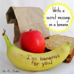 How to Write a Secret Message on a Banana