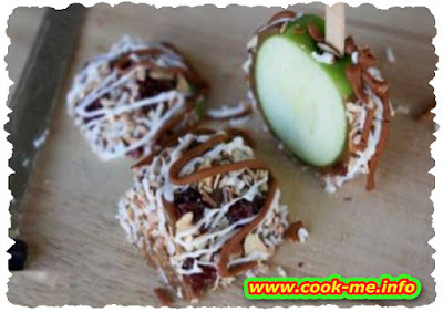 The apples in caramel and chocolate dessert recipes simple easy