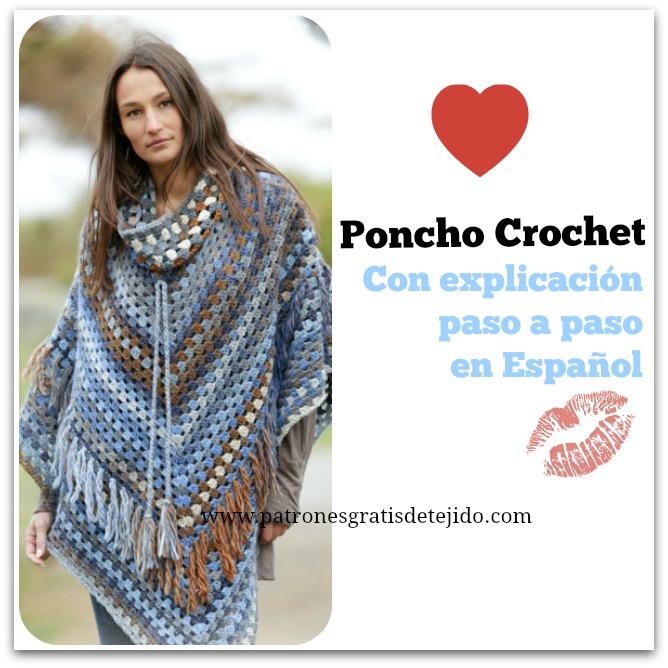 50 Ponchos y Capas para Tejer / Patrones y Tutoriales | Crochet y ...