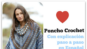 Poncho Crochet con Cuello Desmontable / Paso a paso