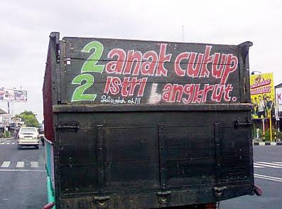 variasi tulisan bak truk