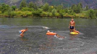nuotare nel fiume oglio bambini