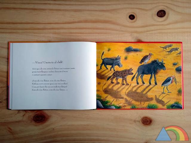 Interior del libro Los cinco feos de Julia Donaldson y Axel Scheffler