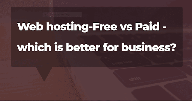 Web hosting-Free vs Paid - which is better for business?