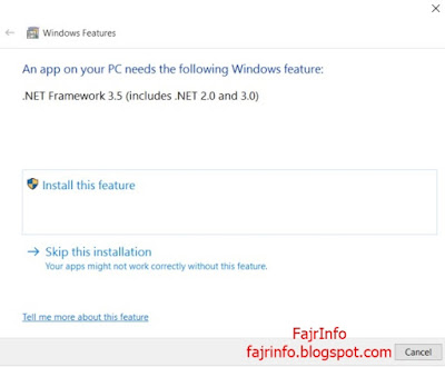 Cara Instal .NET Framework 3.5 di Windows 10 Secara Offline