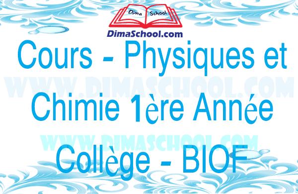 La tension électrique - Cours - Physique et Chimie 1 AC BIOF