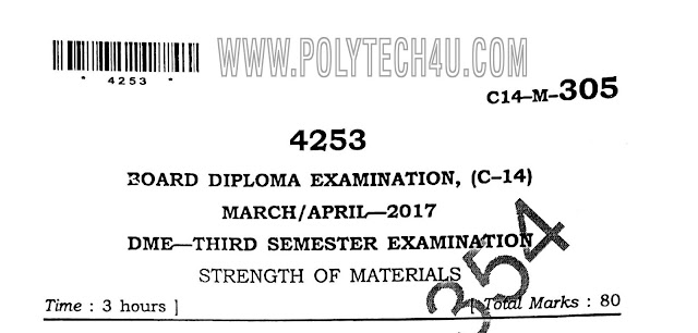 dme c14 strength of material previous question paper for free download