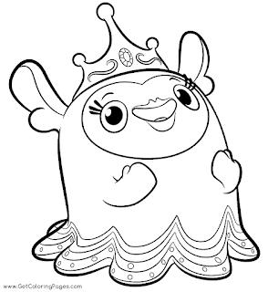 הנסיכה פלוג  לצביעה