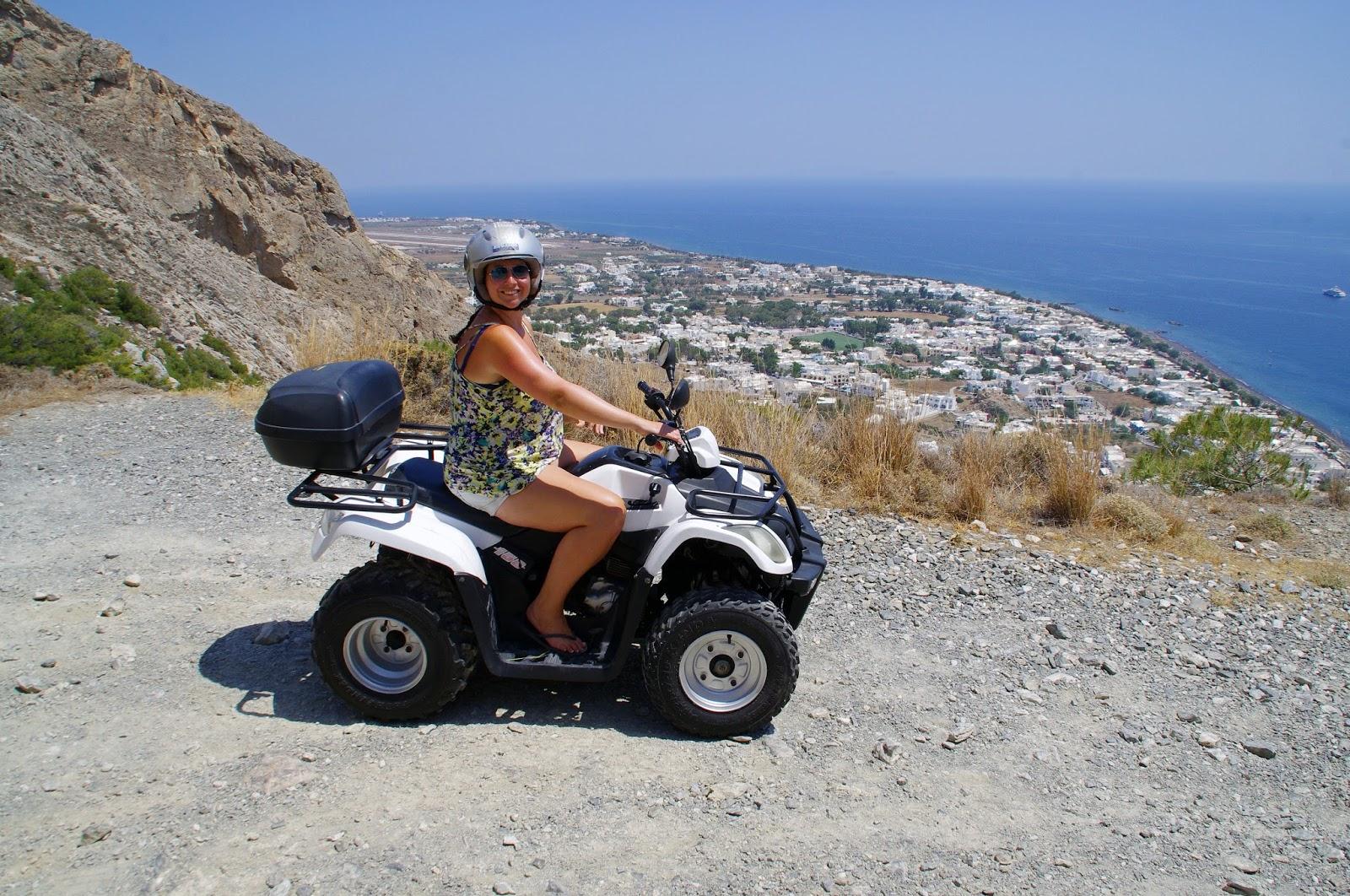 Girl on Quad Bike Santorini