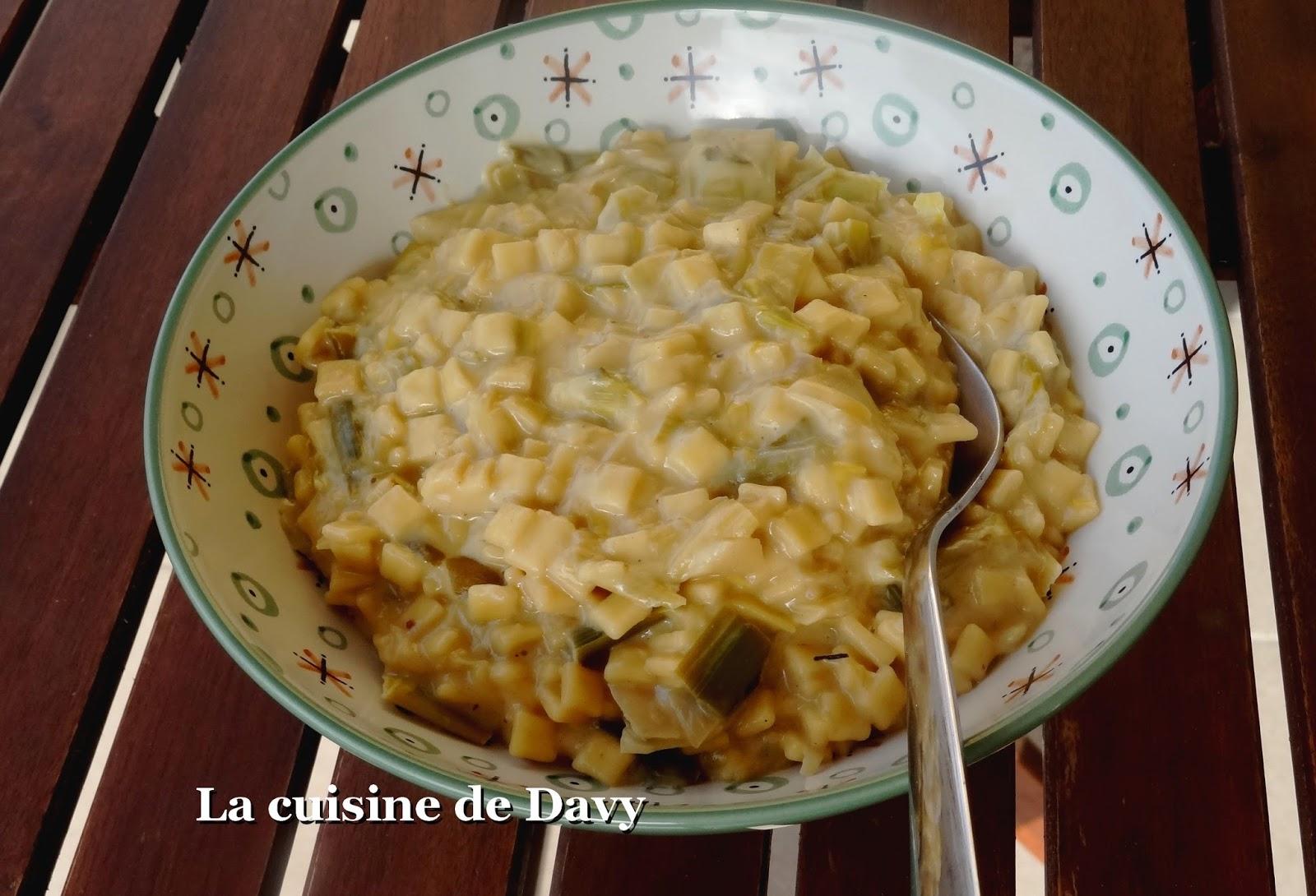 la cuisine de davy: crozets façon risotto aux poireaux et comté
