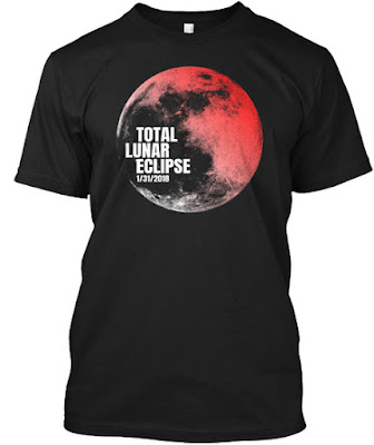 Total Lunar Eclipse Blood Moon 01-31-2018 T Shirt