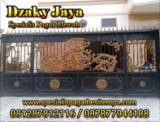 Contoh produk pintu gerbang besi tempa milik Dzaky Jaya