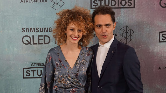Esther Acerbo y Pedro Alonso en la presentación de Atresmedia Studios