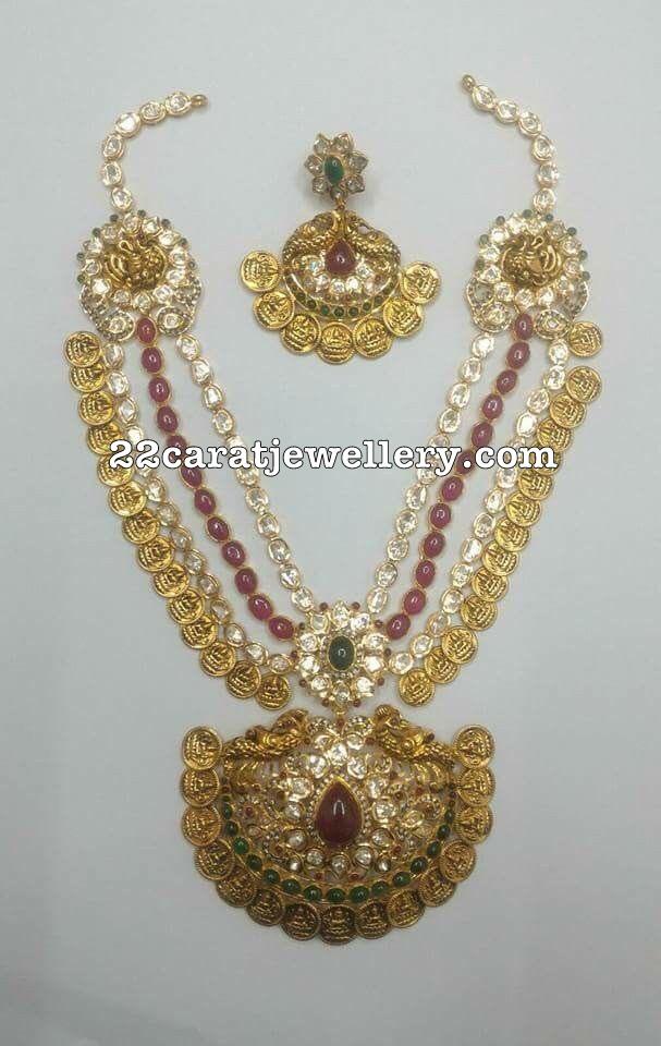 Three Rows Kasu Necklace
