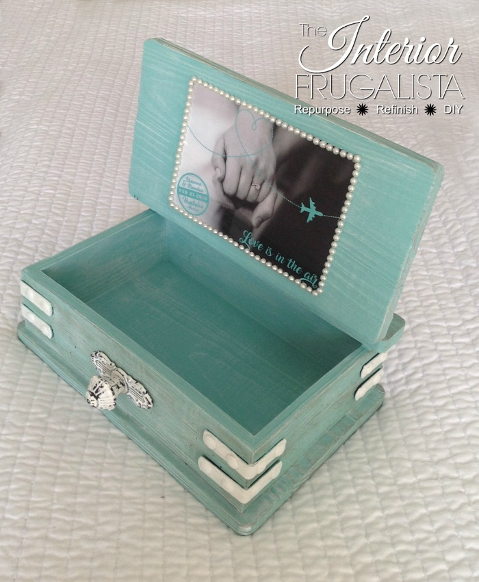 Wedding Card Box Interior