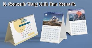 Souvenir Yang Unik Dan Menarik  merupakan salah satu manfaat memberikan kalender sebagai souvenir promosi perusahaan