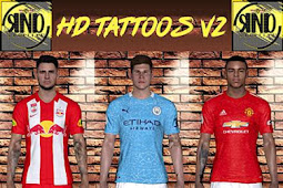 New Update Tattoo HD (14 Players) - PES 2017
