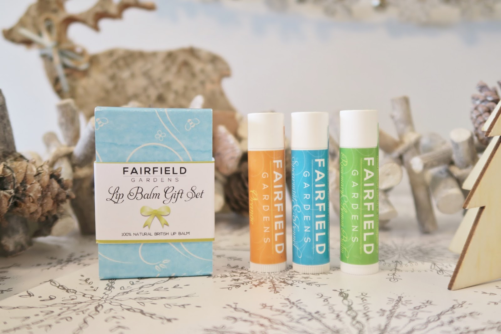 Amber's Beauty Talk Christmas Gift Guides | Fairfield Gardens Lip Balm Trio