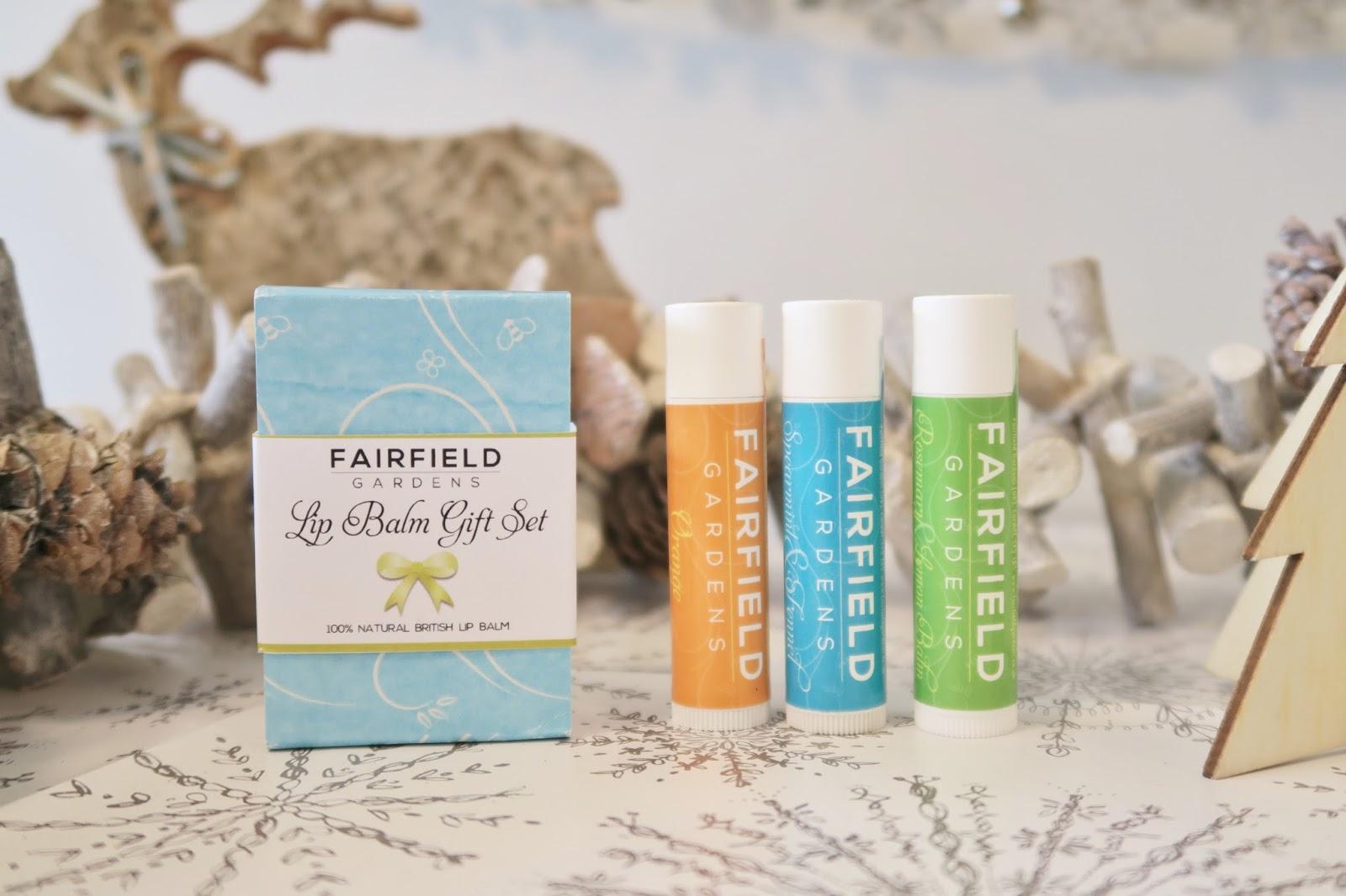 Amber's Beauty Talk Christmas Gift Guides | Fairfield Gardens Lip Balm Trio