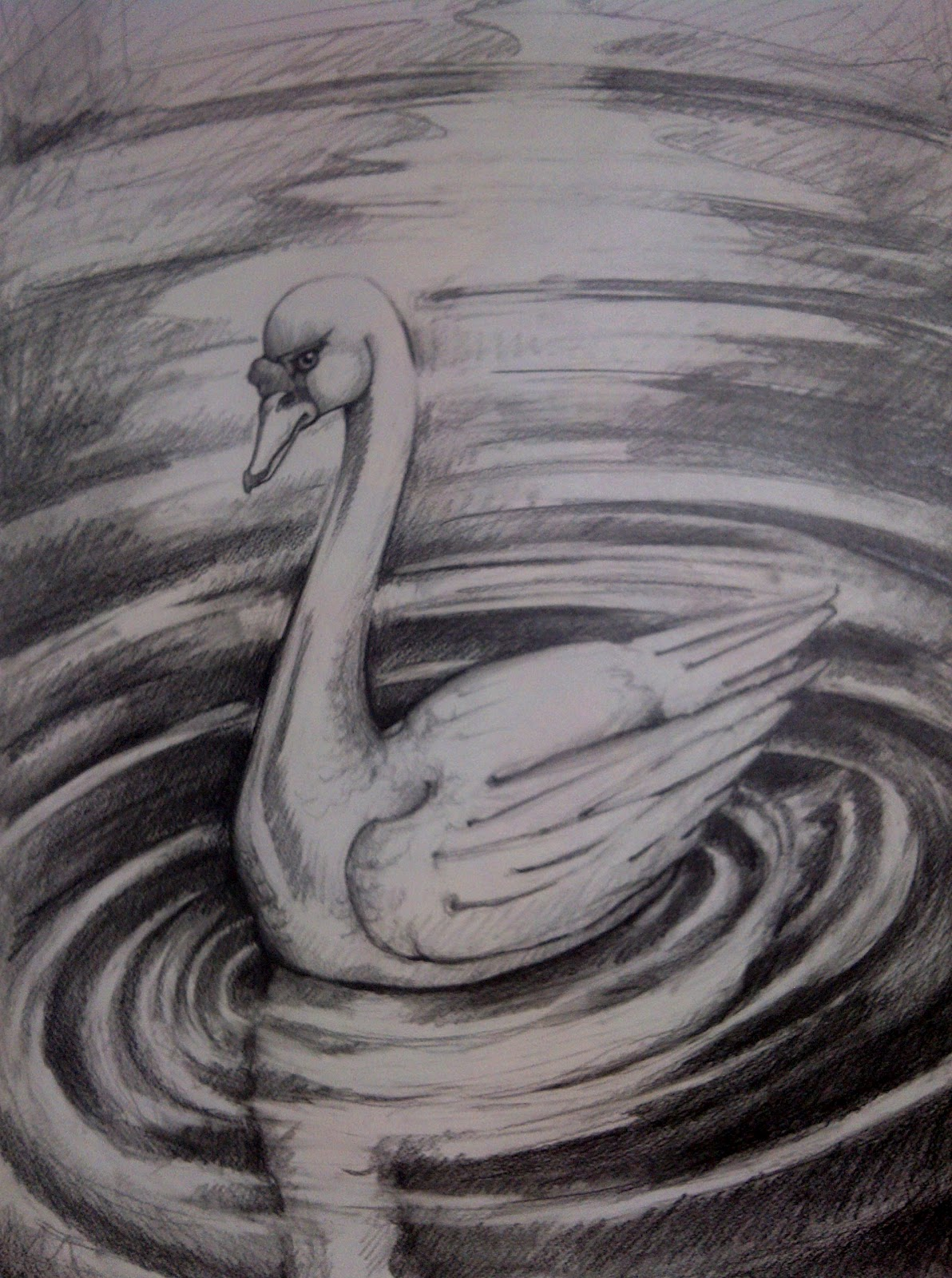 Drawing water ripples in pencil dating