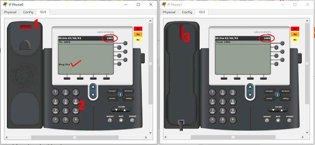 pengujian dial voip dengan ip phone