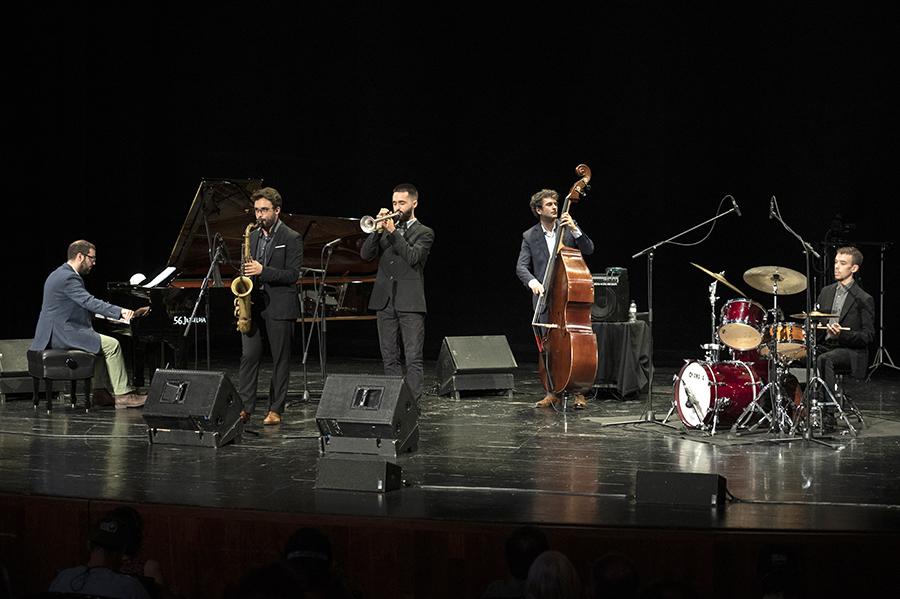 Smack Dab (Joël González (p), Lluc Casares (sax), Oriol Vallès (t), Pau Sala (cb), Joan Casares (bat)), Teatro Victoria Eugenia, Donostia, 24-jul-2021