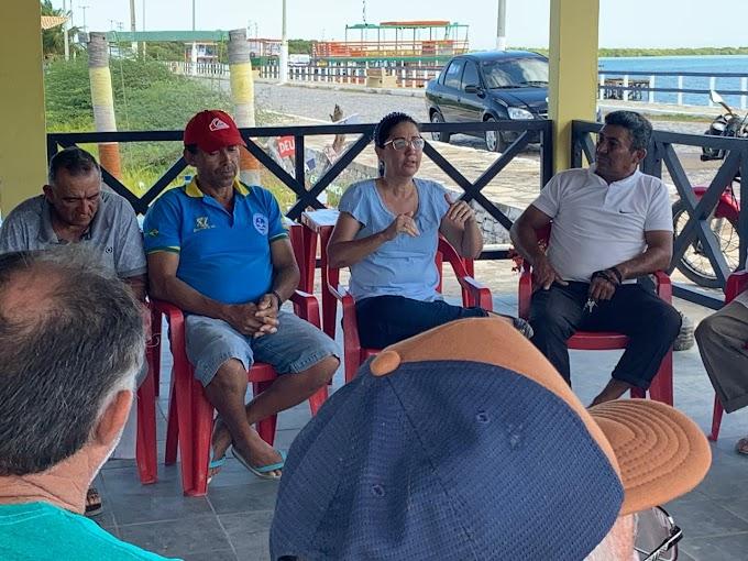 Clorisa se reúne com pescadores e firma compromisso