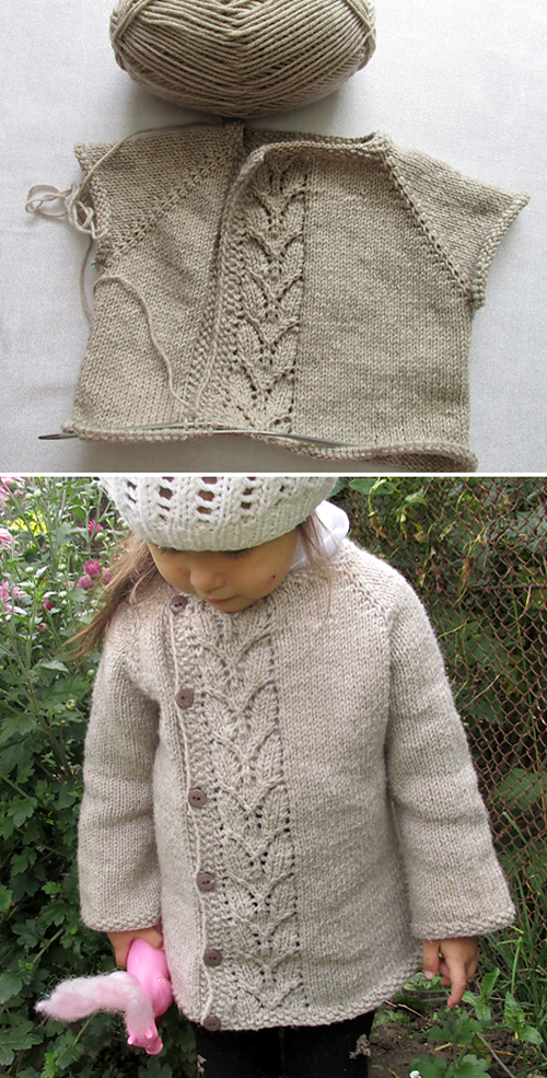 Leaf Love Baby Sweater - Free Pattern