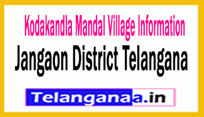 Kodakandla Villages in Kodakandla Mandal Jangaon District Telangana