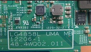 LENOVO G580-20157  Mainboard LG4858L UMA MB 12206-1 48.4WQ02.011 Laptop Bios