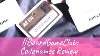 Codenames card game on a navy background