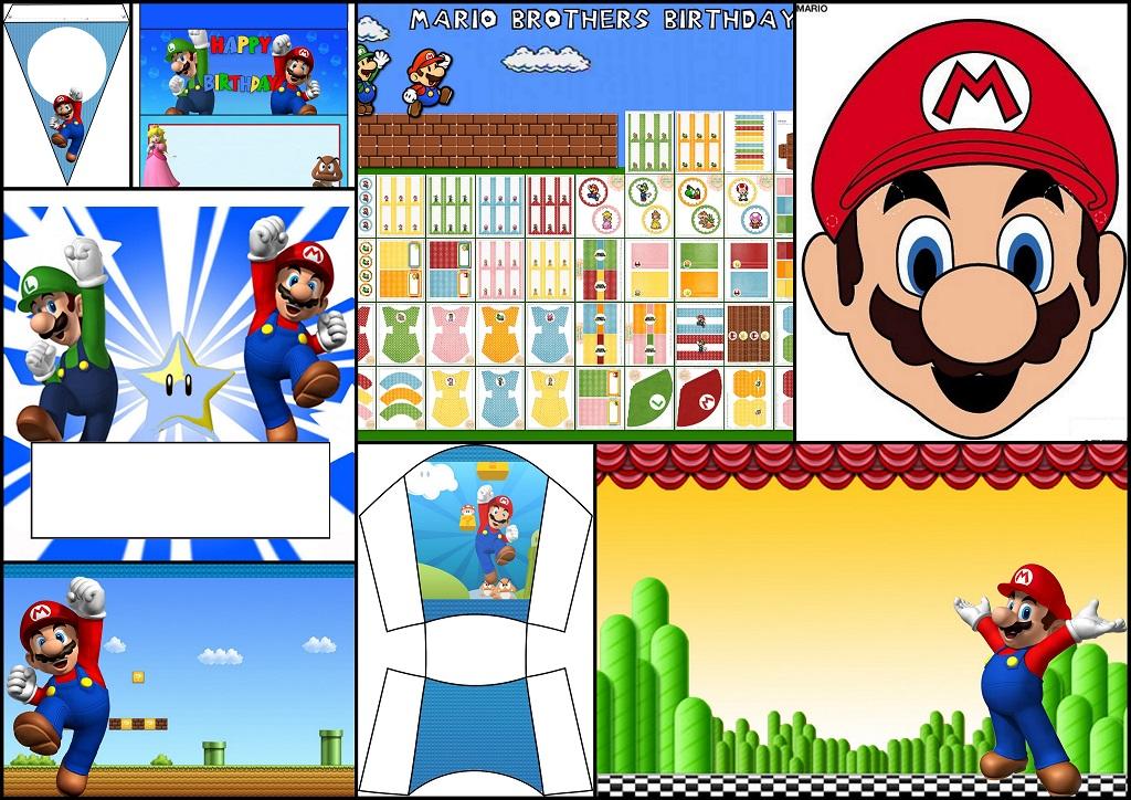 Super Mario Bros Kits Para Imprimir Gratis Máscaras Y Más Oh My