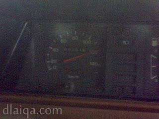 iseng-iseng lihat speedometer ketika melintas di jalan tol menuju Merak (2)