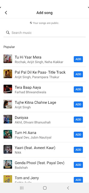 FB Songs List