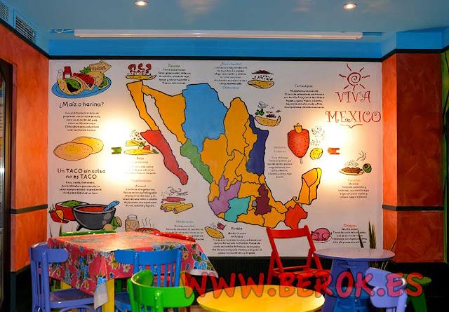 Mural mapa mexicano