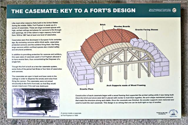Carteles Informativos en Fort Popham en Phippsburg, Maine