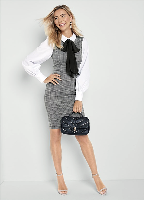 A very professional-looking ensemble from Venus for boys who work in an office.