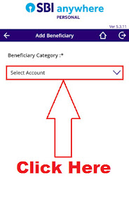 add intra bank beneficiary account in sbi anywhere app