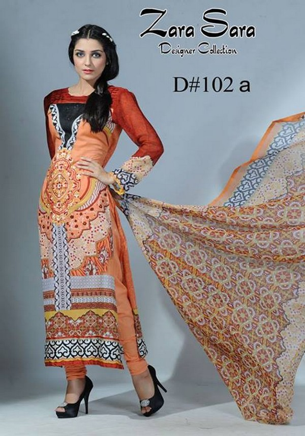 Zara Sara Latest Eid Lawn Suites 2013 By Dawood Fashion