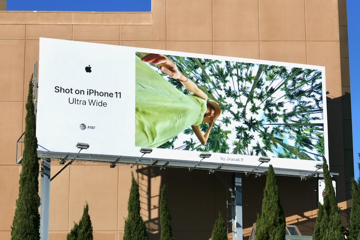 Shot on iPhone 11 Ultra Wide Jirasak P billboard